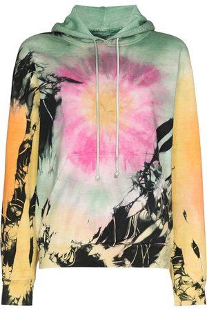 COME BACK AS A FLOWER Drawstring tie-dye hoodie