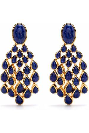 Aurelie Bidermann Lapis Lazuli Cherokee clip-on earrings