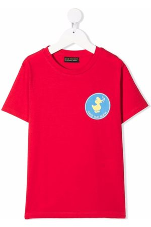 Save The Duck Kids Logo-patch cotton T-shirt