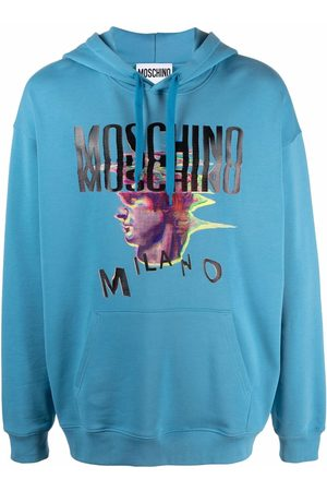 Moschino Graphic-print relaxed logo hoodie