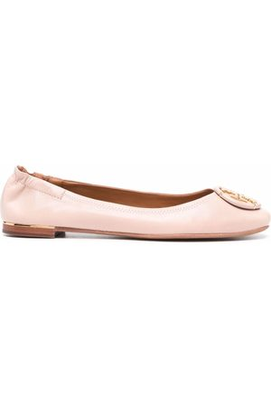 Tory Burch Minnie leather ballerina shoes