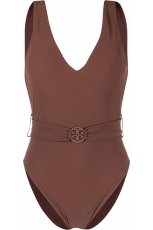 Tory Burch Belted V-neck swimsuit