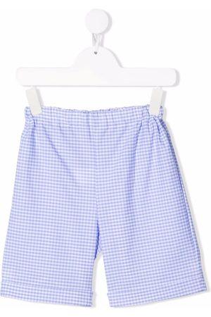 Siola Check-print cotton shorts