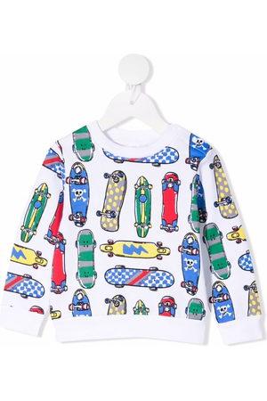 Stella McCartney Kids Skateboard-print organic-cotton sweatshirt