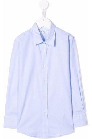 SIOLA Spread-collar cotton shirt