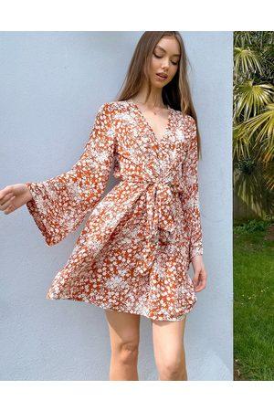 River Island Women Casual Dresses - Floral print tie waist mini dress in