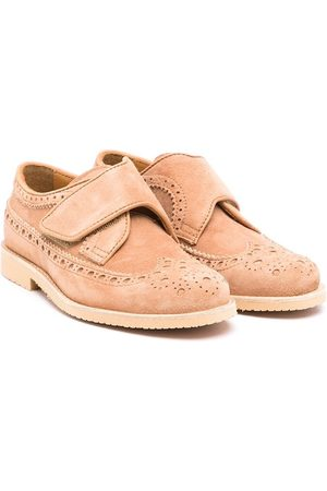 Gallucci Kids Round-toe touch-strap brogues