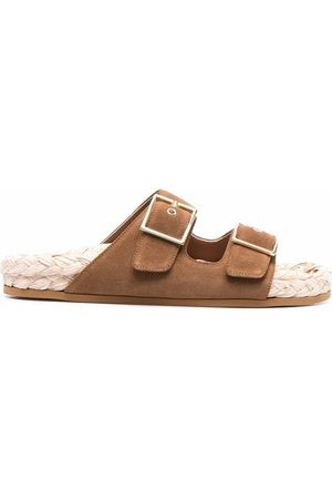 L'Autre Chose Suede side-buckle sandals