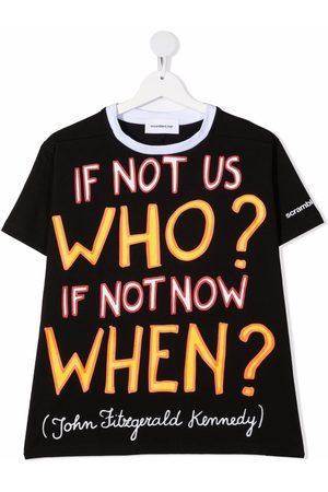 Scrambled_Ego Quote-print cotton T-shirt