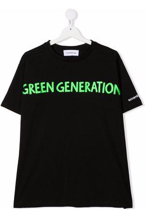 Scrambled_Ego TEEN slogan-print cotton T-shirt