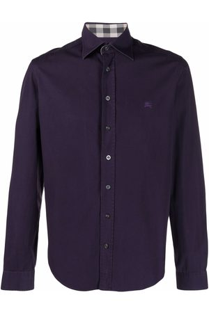 Burberry Pre-Owned 2000's logo-embroidered shirt