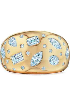 KWIAT 18kt yellow diamond Cobblestone wide band ring