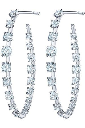 KWIAT 18kt white gold diamond Starry Night hoop earrings