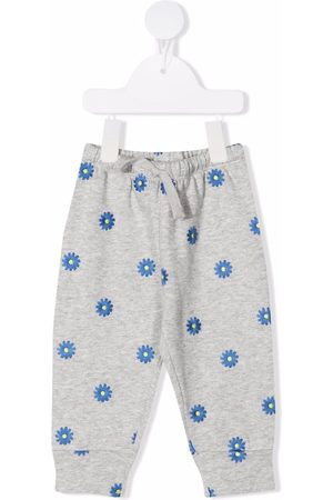 Stella McCartney Kids Floral-embroidered sweatpants