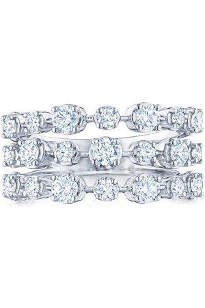 KWIAT 18kt white gold diamond Starry Night three row ring