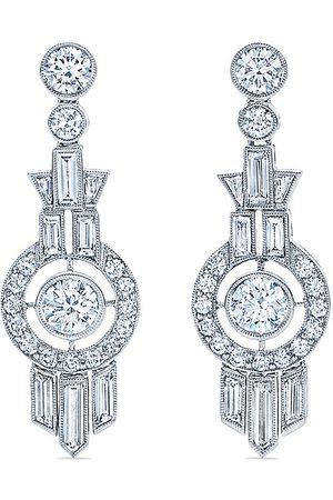 KWIAT 18kt white gold diamond Splendor pendant earrings
