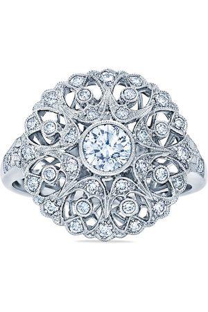 KWIAT 18kt white gold diamond Splendor Filigree Bombe ring