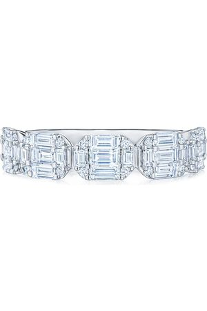 KWIAT 18kt white gold diamond Sunburst partway band ring