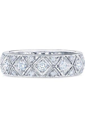 KWIAT 18kt white gold Splendor diamond filigree band ring