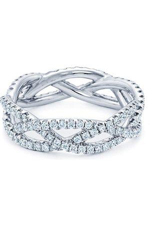 KWIAT 18kt white gold Twist 3-strand diamond ring