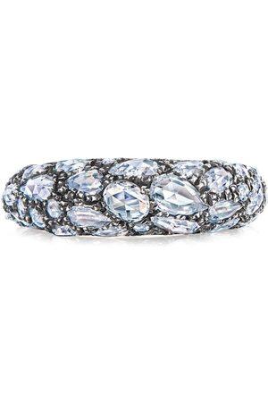 FRED LEIGHTON 18kt white Bombe rose cut diamond ring