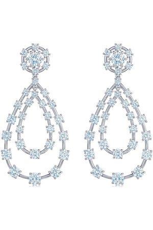 Kwiat 18kt gold diamond Starry Night double teardrop earrings