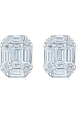 KWIAT 18kt white gold diamond Starburst stud earrings