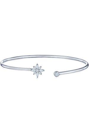 KWIAT 18kt white gold diamond star open bangle