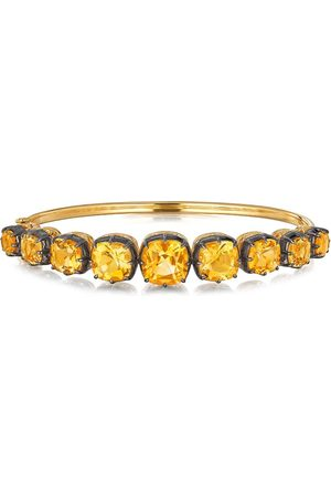 FRED LEIGHTON 18kt cushion citrine collet bangle