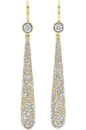 KWIAT 18kt yellow diamond Cobblestone drop earrings