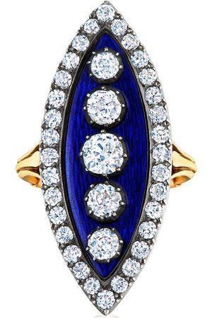 FRED LEIGHTON 18kt diamond Navette ring