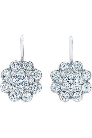 KWIAT 18kt white gold diamond Cluster Double Halo earrings