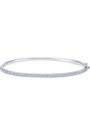 KWIAT 18kt white gold diamond Moonlight three-row slim bangle