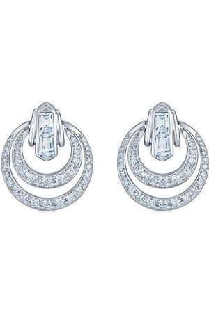 KWIAT 18kt white gold diamond Cascade petite door knocker earrings