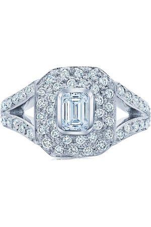 KWIAT 18kt white gold diamond Rox square ring