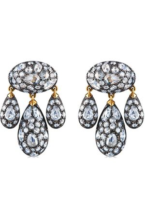 FRED LEIGHTON 18kt diamond Modern Girandole pendant earrings
