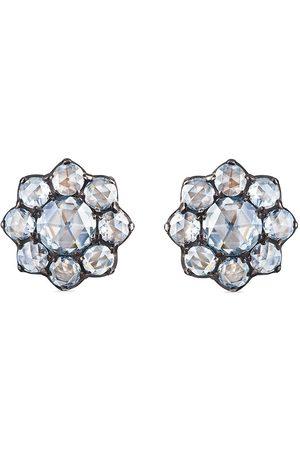 FRED LEIGHTON 18kt rose cut diamond petite cluster earrings