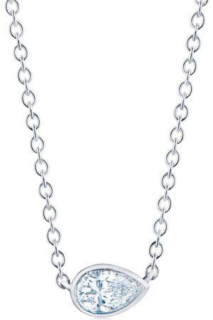 KWIAT 18kt gold side-set pear shape diamond pendant