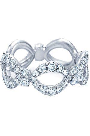 KWIAT 18kt gold diamond Jasmine open circles ring