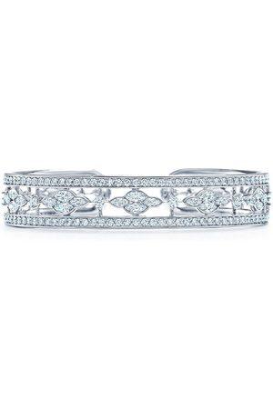 KWIAT 18kt white gold diamond Trellis cuff bangle