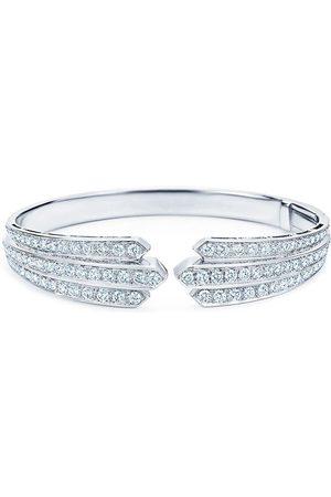 KWIAT 18kt white gold diamond Cascade open bangle