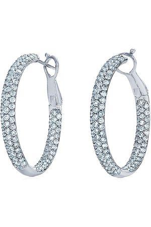 KWIAT 18kt white gold diamond Moonlight hoop earrings