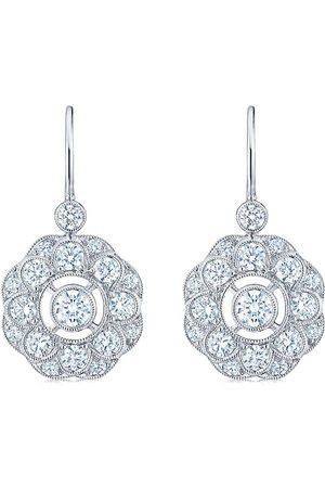 KWIAT 18kt white gold diamond Splendor layered cluster drop earrings