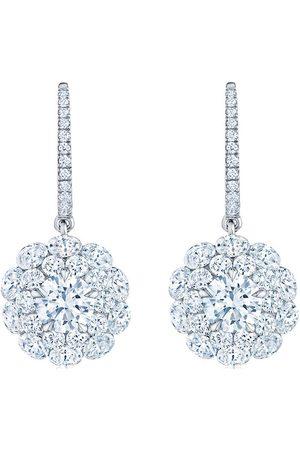 KWIAT 18kt gold diamond Cluster double halo earrings
