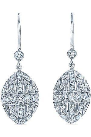 KWIAT 18kt white gold Splendor filigree diamond egg drop earrings