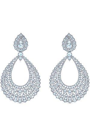 KWIAT 18kt white gold diamond Splendor large filigree pear shape chandelier earrings
