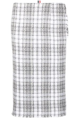 Thom Browne Tartan-check pencil skirt