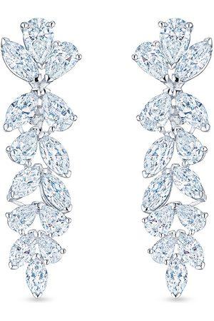 KWIAT American Beauty pear shape marquise hanging diamond earrings