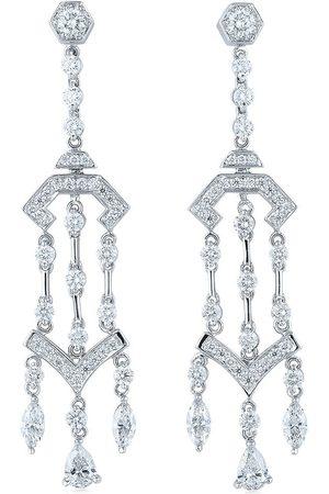 KWIAT 18kt white gold diamond Pagoda chandelier earrings