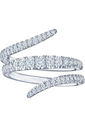 KWIAT 18kt white gold Vine diamond wrap ring